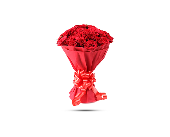 30 red rose paper packing