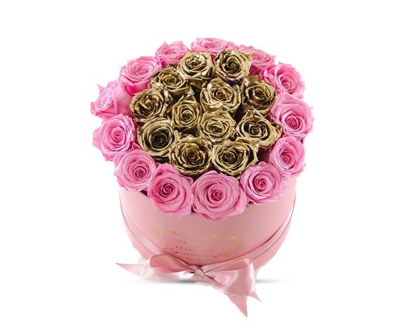 Gold rose box